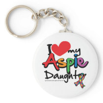 I Love My Aspie Daughter Keychain