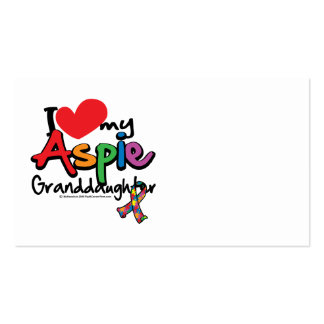 I Love My Aspie Granddaughter Business Card