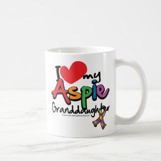 I Love My Aspie Granddaughter Coffee Mug
