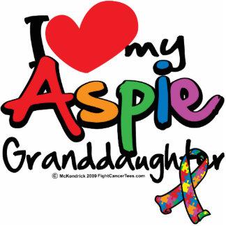 I Love My Aspie Granddaughter Standing Photo Sculpture