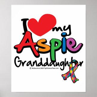 I Love My Aspie Granddaughter Poster