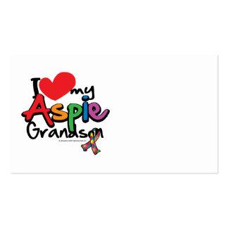I Love My Aspie Grandson Business Card Templates