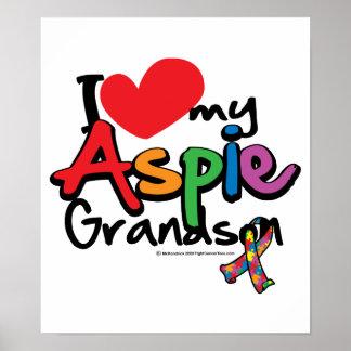 I Love My Aspie Grandson Poster