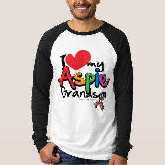 I Love My Aspie Grandson Tee Shirt