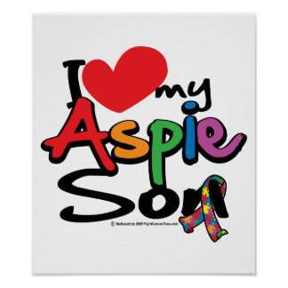 I Love My Aspie Son Poster