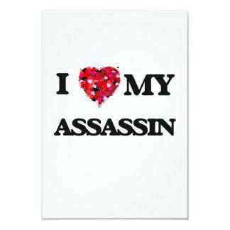 I love my Assassin 3.5x5 Paper Invitation Card