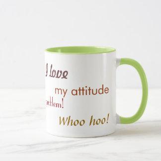 I Love My Attitude Mug