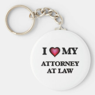 I love my Attorney At Law Keychain