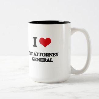 I Love My Attorney General Two-Tone Coffee Mug