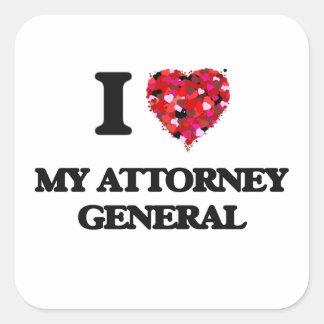 I Love My Attorney General Square Sticker