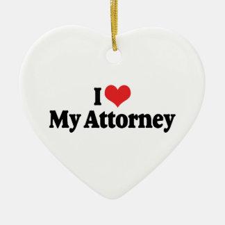 I Love My Attorney Ornament