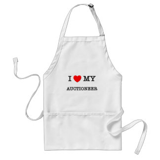 I Love My AUCTIONEER Adult Apron