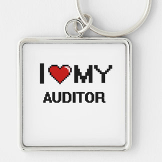 I love my Auditor Silver-Colored Square Keychain