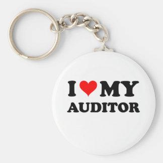 I Love My Auditor Basic Round Button Keychain