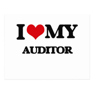 I love my Auditor Postcard