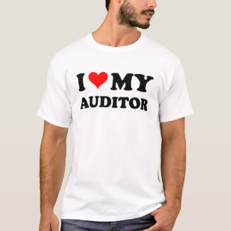 I Love My Auditor T-Shirt