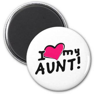 I love my aunt! 2 inch round magnet