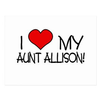 I Love My Aunt Allison Postcard