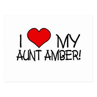 I Love My Aunt Amber Postcard