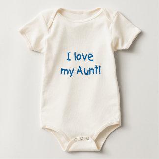 I Love My Aunt! (blue) Infant Creeper