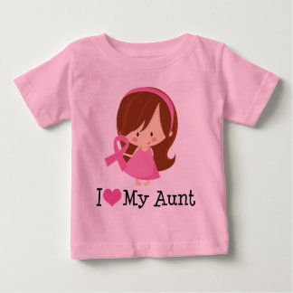 I Love My Aunt Breast Cancer Ribbon Shirt