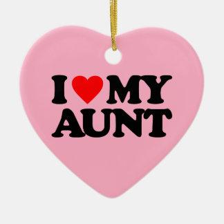 I LOVE MY AUNT CERAMIC ORNAMENT