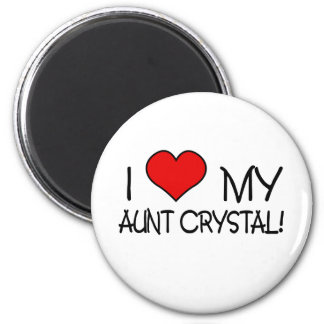 I Love My Aunt Crystal 2 Inch Round Magnet