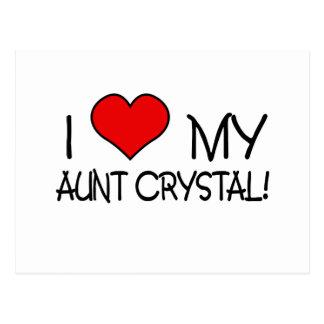I Love My Aunt Crystal Postcard