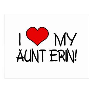 I love My Aunt Erin Postcard