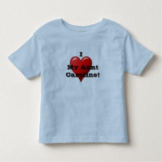 I Love My Aunt (insert name) Child's Heart T Shirt