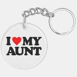 I LOVE MY AUNT Double-Sided ROUND ACRYLIC KEYCHAIN