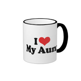 I Love My Aunt Ringer Coffee Mug