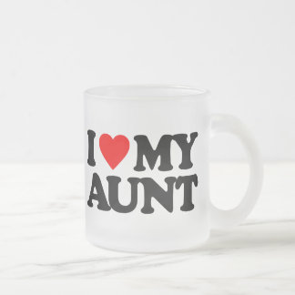 I LOVE MY AUNT 10 OZ FROSTED GLASS COFFEE MUG