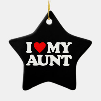 I LOVE MY AUNT CHRISTMAS ORNAMENT