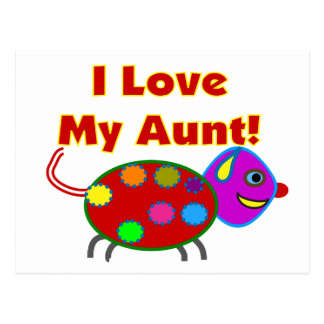 I Love My Aunt Postcard
