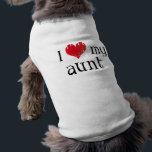"I love my aunt shirt<br><div class=""desc"">Item says &quot;I love (heart) my aunt&quot; on it.</div>"