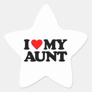 I LOVE MY AUNT STAR STICKER