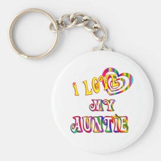 I Love My Auntie Keychains
