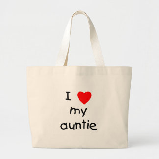 I Love My Auntie Large Tote Bag