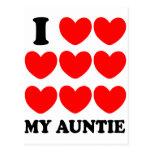 I Love My Auntie Postcard