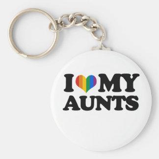 I Love My Aunts Basic Round Button Keychain