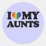 I Love My Aunts Classic Round Sticker