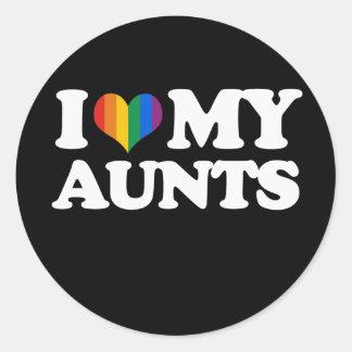 I Love My Aunts - Classic Round Sticker