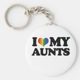 I Love My Aunts Keychain
