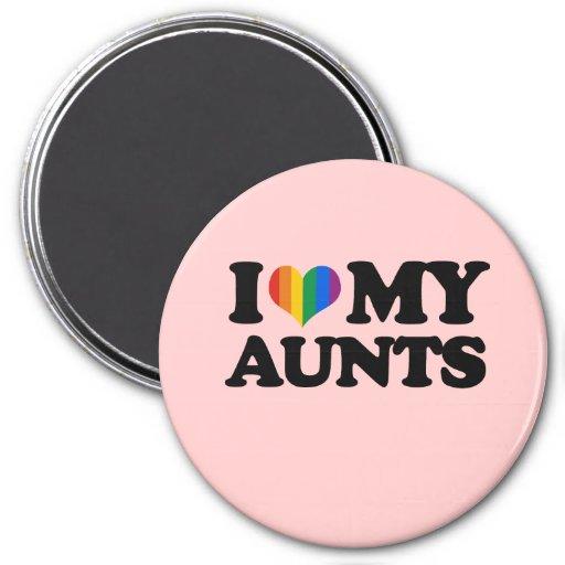 I Love My Aunts Magnet