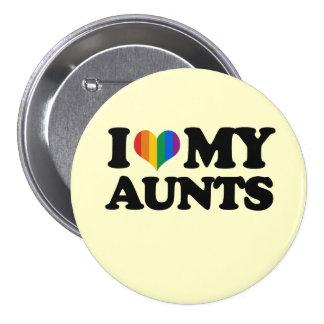 I Love My Aunts Pinback Button