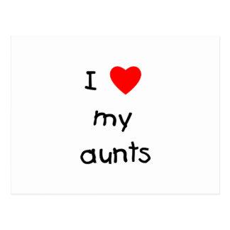 I Love My Aunts Postcard