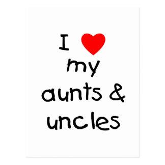 I Love My Aunts & Uncles Postcard