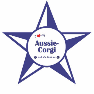 I Love My Aussie-Corgi (Female Dog) Photo Cutout