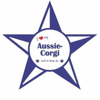 I Love My Aussie-Corgi (Male Dog) Photo Cutout